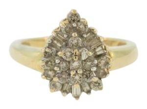 Other Antique Stacked Diamond Ring- 10k Yellow Gold