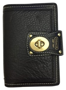 Coach Brand New Authentic Coach planner/organizer in Black Leather w/ pen