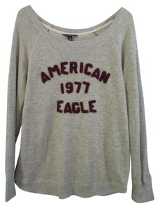 American Eagle Outfitters Top gray & burgandy