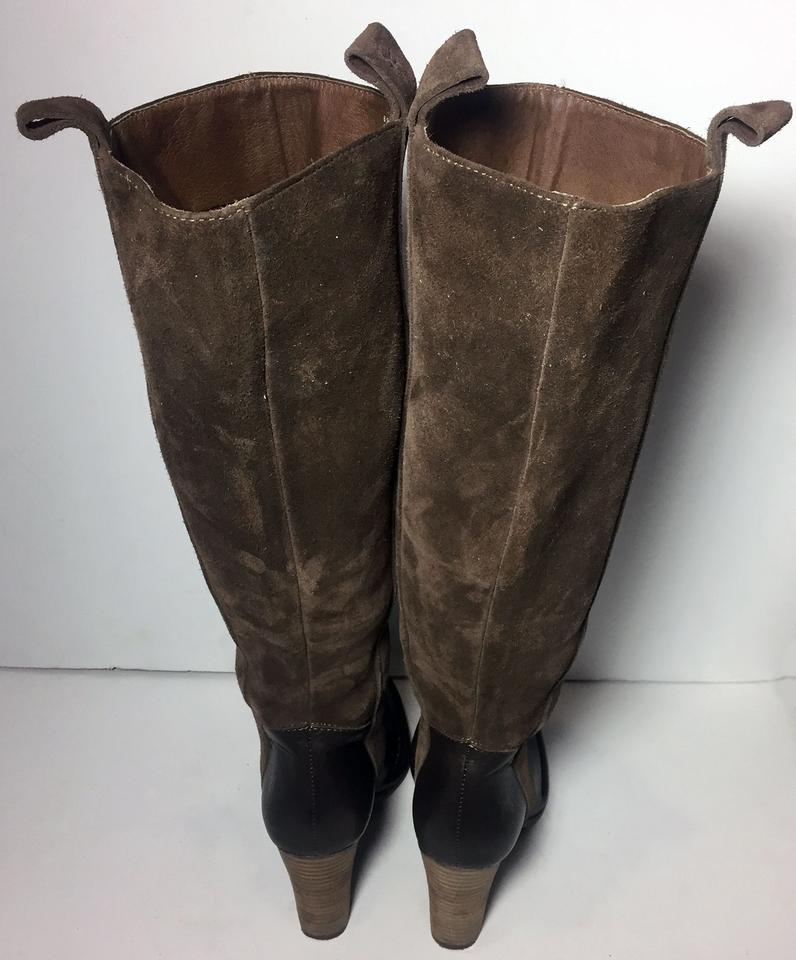 Pull Booties Boots Cowgirl 77570 Brown Frye On Suede Villager Women's tAwqTAOvzx