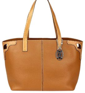 Cartier Python Leather Neverfull Speedy Tote in Brown