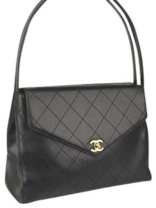 Chanel Boy Gold Cc Quilted Calfskin Shoulder Bag