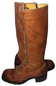 Frye 76320 Campus Lug Lace Motorcycle 7.5 Women 7.5 Brown Boots