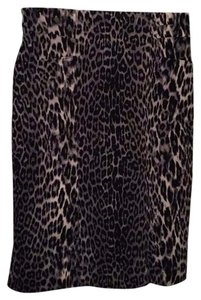 Elie Tahari Skirt black and grey leopard print