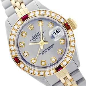 Rolex Rolex Datejust 69173 ladies Grey Diamond and Ruby 26mm Watch