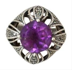 Judith Jack Judith Jack Sterling Amethyst & Marcasite Ring, Size 8