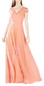 BCBGMAXAZRIA Madalena Cross-bodice Pleated Wedding Gown Dress