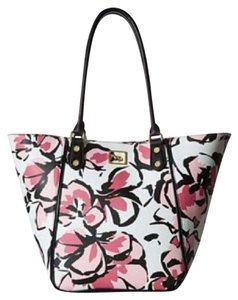 Emma Fox Tote in black, white, red