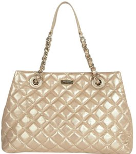 Kate Spade Quilted Gold Gold Maryanne Quilted Tote in OFF white