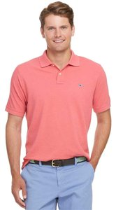 Vineyard Vines Mens Mens Mens Polo Shirt Striped Polo Shirt Polo Button Down Shirt Pink / Salmon