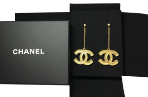 Chanel Brand New Chanel 2017 XL CC Gold Dangle CC Earrings Box Pouch Bag