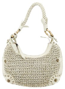 Isabella Fiore Braided Woven Leather Hobo Bag