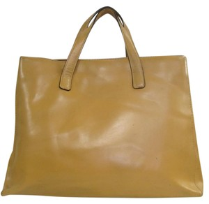 KESSLORD PARIS Monogram Leather Tote in BEIGE TAN