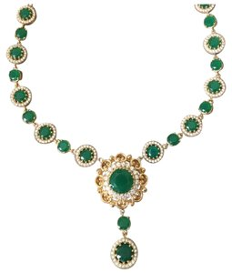 Other New Authentic Emerald and Topaz bronze necklace