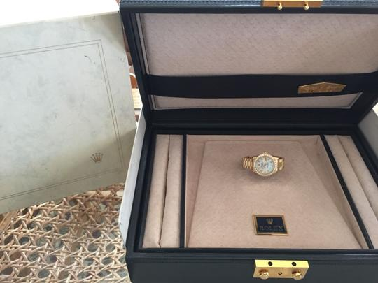 Rolex ROLEX LADIES 18k Yellow Gold PRESIDENTIAL DIAMOND BEZEL CROWN COLLECTION BOX