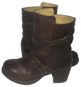 Frye 76520 Vera Strappy Motorcycle 7 Women's 7 Brown Boots