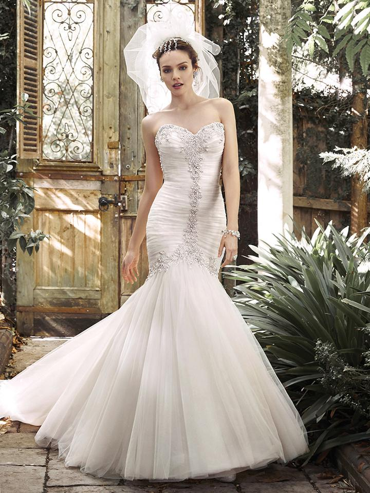 51c1fd31e0b Sottero and Midgley Ivory Champagne Silver Tulle Cerise 5md677 Formal  Wedding Dress Size 10 ...