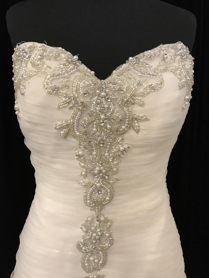 491906a4220 Sottero and Midgley Ivory Champagne Silver Tulle Cerise 5md677 Formal  Wedding Dress Size 10. 12345