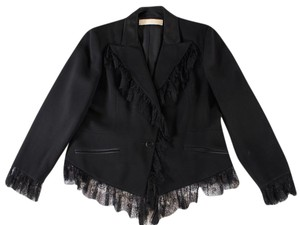 Valentino Lace Jacket Wool Black Blazer