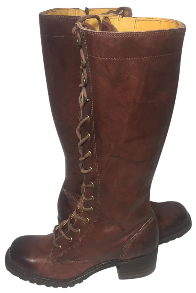 Frye Brown 76320 Motorcycle Campus Lug Motorcycle 76320 Women's Boots/Booties 4e0497