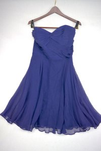 Alfred Angelo Twilight Blue 7151 Short Sweetheart Navy Blue Bridesmaid Dress Dress