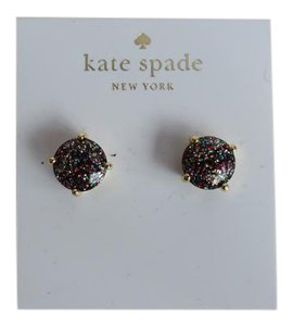 Kate Spade Nwt Kate Spade Multicolored Glitter Sparkle Round Stud Earrings