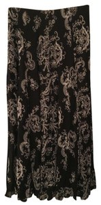 Chico's Embroidered Maxi Skirt black