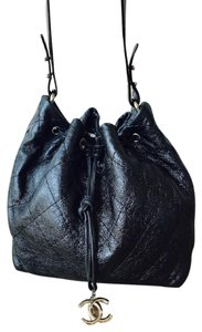 Chanel Leather Road Bucket Hobo Bag