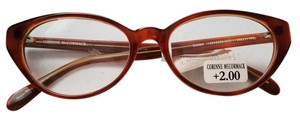 Corinne McCormac NEW Corinne McCormack Reading Glasses Brown +2.00,+1.50