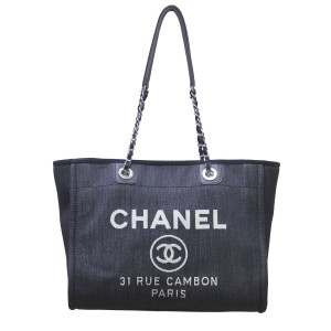 Chanel Deauville Denim Shoulder Bag