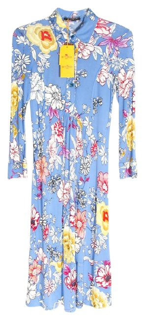 Item - Blue Floral Mid-length Casual Maxi Dress Size 6 (S)