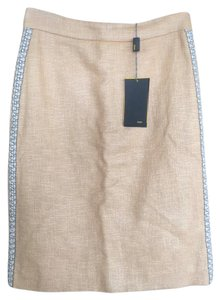 Fendi Embroidered Size 40 Skirt Light Sand