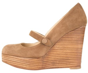Christian Louboutin light brown Wedges