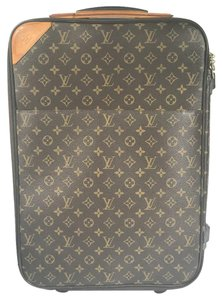 Louis Vuitton 55 Monogram Suitcase Brown Travel Bag