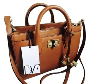 Diane von Furstenberg Dvf Leather Satchel in CAMEL