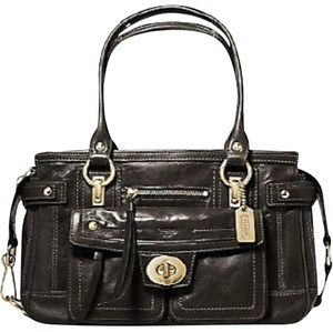 Coach Lindsay 12475 Hampton Satchel in Bronze/Brown/Espresso
