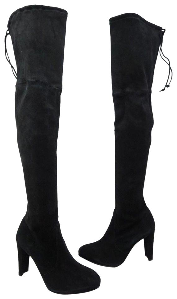 41dcdba4e6f Stuart Weitzman Black Highland Over The Knee Suede Boots Booties ...