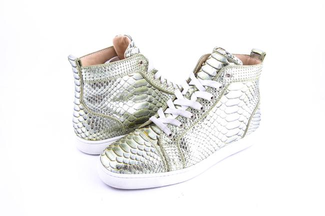 Item - Gold Louis Flat Python Mika Hi-top Sneakers Shoes