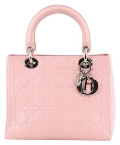Dior Christian Leather Tote in Pink