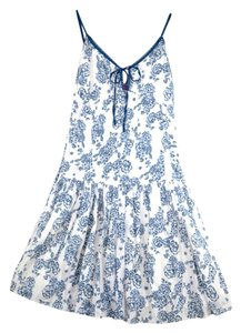 Raviya short dress Blue Princess Cut Tea Damask Sweetheart on Tradesy