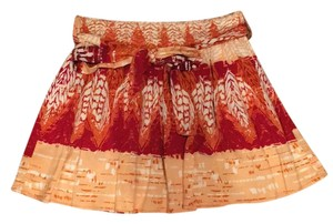 Forever 21 Mini Skirt Peach/Red/White