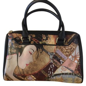 Icon Satchel in Black & multi