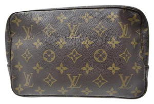 Louis Vuitton Trousse Toilette Monogram Cosmetic Pouch Brown Brown Monogram Travel Bag
