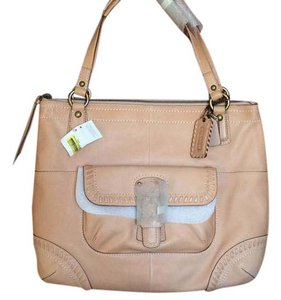 Coach Vachetta Leather Tote in Natural