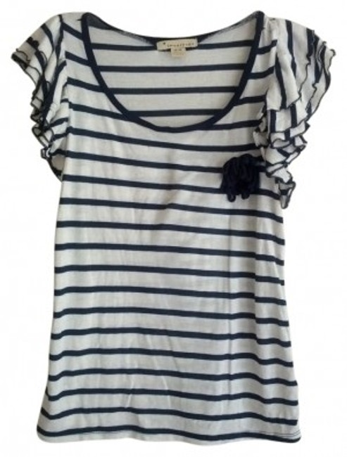 Preload https://img-static.tradesy.com/item/20718/forever-21-blue-and-cream-striped-w-ruffle-sleeve-tee-shirt-size-8-m-0-0-650-650.jpg