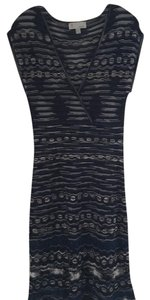 M Missoni V-neck Sparkle Scalloped Dress