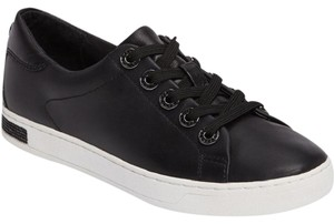 Michael Kors Halle Sneaker Black Leather Black/White Athletic