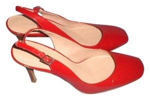 Calvin Klein Patent Leather Classic RED Pumps