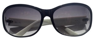 Ellen Tracy Gradient Sunglasses Black/White Frame
