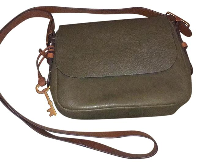 Item - Harper Small Canteen Green Leather Cross Body Bag